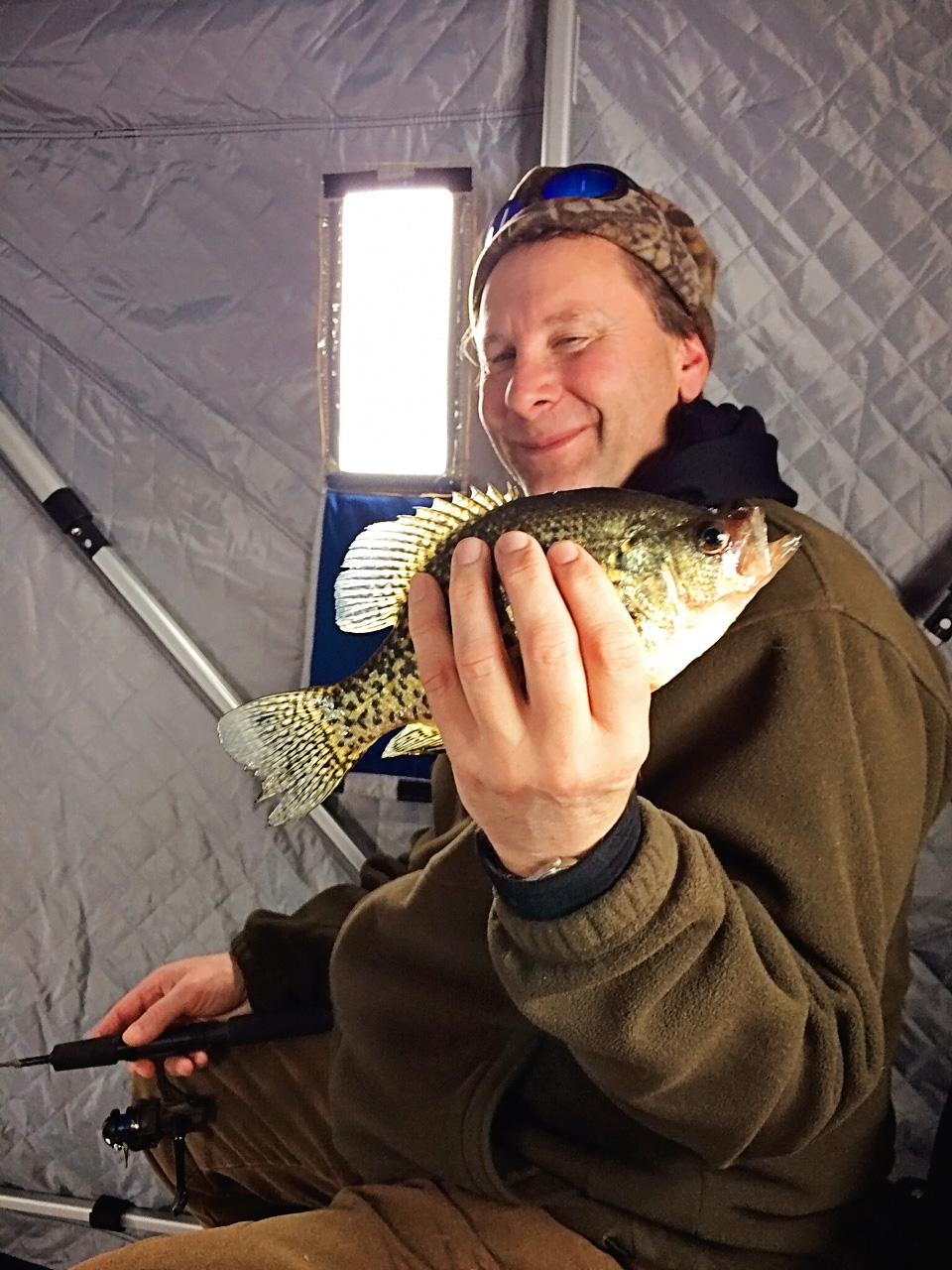 Crappie caught during ice fishing in northern MN