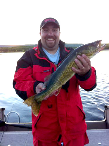 Beautiful green and gold walleye caught with Remington Fishing Guide Randy Erola