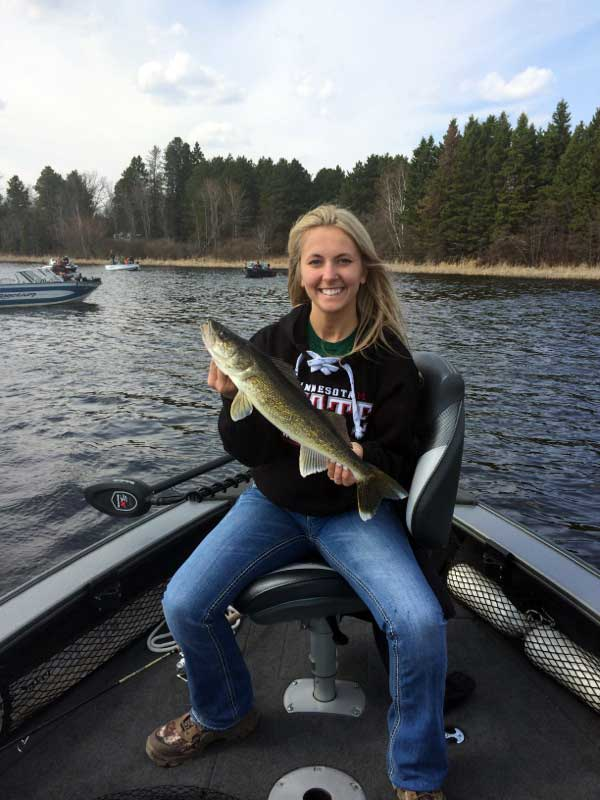 Spring walleye fishing in Northern Minnesota