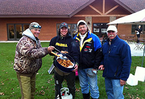 Remington Guide Service, Randy Erola serving up fish fry